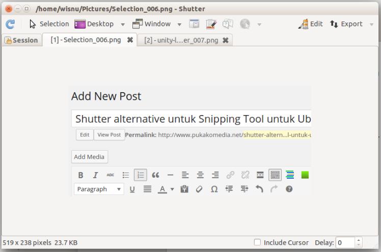 Shutter Ubuntu