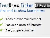 Free News Ticker Module Free News Ticker Module Author : www.webtools4free.com Download : CLICK HERE Sort Description : Modul untuk menampilkan berita terkini dalam blog atau website kita. Type : Web Tools Status : FREE More Info Menampilkan berita utama terbaru, harga saham, olahraga skor dan laporan cuaca. Bergulir dan hyperlink headline meng-upload cepat dan […]